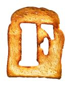Isolated Letter Of Toast Alphabet