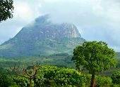 Mountain Landscape Of Mozambique. Mountains In The Mist. Africa, Mozambique.