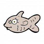 cartoon happy goldfish