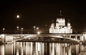 Moskva River and Cathedral of Christ the Saviour