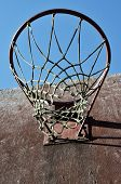 Closeup Of Basketball Backboard And Hoop Outdoor