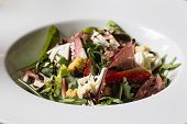 Bresaola and mozzarella salad