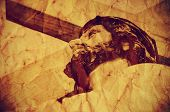 stock photo of golgotha  - a figure of Jesus Christ carrying the Holy Cross - JPG