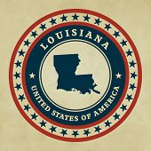 Vintage Label Louisiana