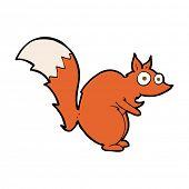 funny startled squirrel cartoon