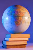 picture of midterm  - Globe on stack of books - JPG