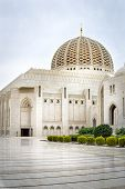 stock photo of oman  - Picture of Grand Sultan Qaboos Mosque in Muscat Oman - JPG
