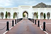 image of oman  - Place at Sultan Qaboos Palace in Muscat Oman on a cloudy day with rain - JPG