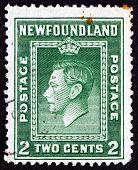 Postage Stamp Newfoundland 1938 King George Vi, Portrait