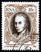 Postage Stamp South Africa 1984 Thomas Pringle, Scottish Writer