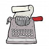 cartoon typewriter