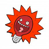 cartoon red lightbulb