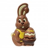 A easter chocolate cute bunny isolated on a white background
