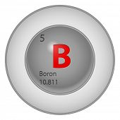 Boron button