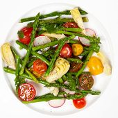 Roasted Asparagus and Artichoke Salad
