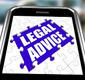 Legal Advice Smartphone Shows Online Lawyer Help
