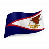 stock photo of samoa  - National flag of American Samoa - JPG