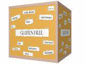 Gluten Free 3D Cube Corkboard Word Concept