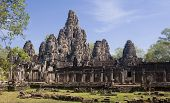 Bayon In Center Angkor Wat - Cambodgia