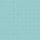 Seamless vector pattern with white polka dots on green or blue
