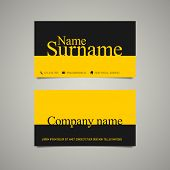 Modern simple business card template with emphasize name and surname
