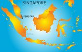Vector color map of Republic of Singapore