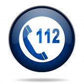112 internet blue icon