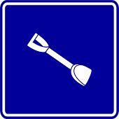 beach shovel sign