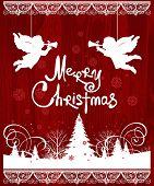 stock photo of angel-trumpet  - Christmas Angels - JPG