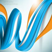 eps10 vector three-dimensional spiral blue elements concept background