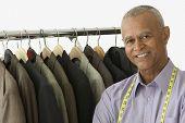 Portrait of tailor smiling