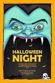 illustration of screaming monster for Halloween message
