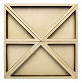 a set of triangular poplar plywood serving trays forming a square