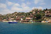 Kalekoy Village On The Turkish Island Of Kekova