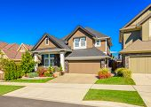 stock photo of stone house  - A perfect neighborhood - JPG