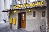 VATICAN, ITALY- SEPTEMBER 22, 2014: Exterior of Vatican Post Office