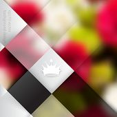 eps10 vector blurry photo realistic foliage elements on business concept background