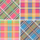 foto of tartan plaid  - Collection of seamless plaid patterns - JPG