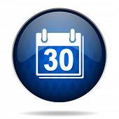 calendar internet blue icon