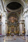ROME, ITALY - SEPTEMBER 22, 2014: Church of St. Ignatius of Loyola at Campus Martius in Rome.