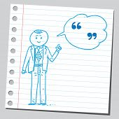 Businessman speaking speech quotes