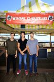 LOS ANGELES - SEP 24:  Cameron Moulene, Shane Harper, Ryan Rottman at the