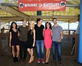 LOS ANGELES - SEP 24:  Cameron Moulene, Shane Harper, Ryan Rottman, Bianca Santos, Katherine McNamara, Camille Guaty at the