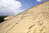 Famous dune of Pyla, the highest sand dune in Europe, in Pyla Sur Mer, France.