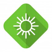 sun flat icon waether forecast sign