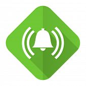 alarm flat icon alert sign bell symbol