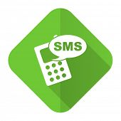sms flat icon phone sign