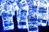 Image of blue fake ice