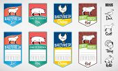 Set of Butcher Shop Labels and Price Tags