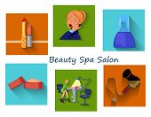 Beauty Spa Salon Squares